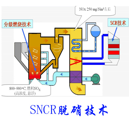 SNCR denitrification technolog